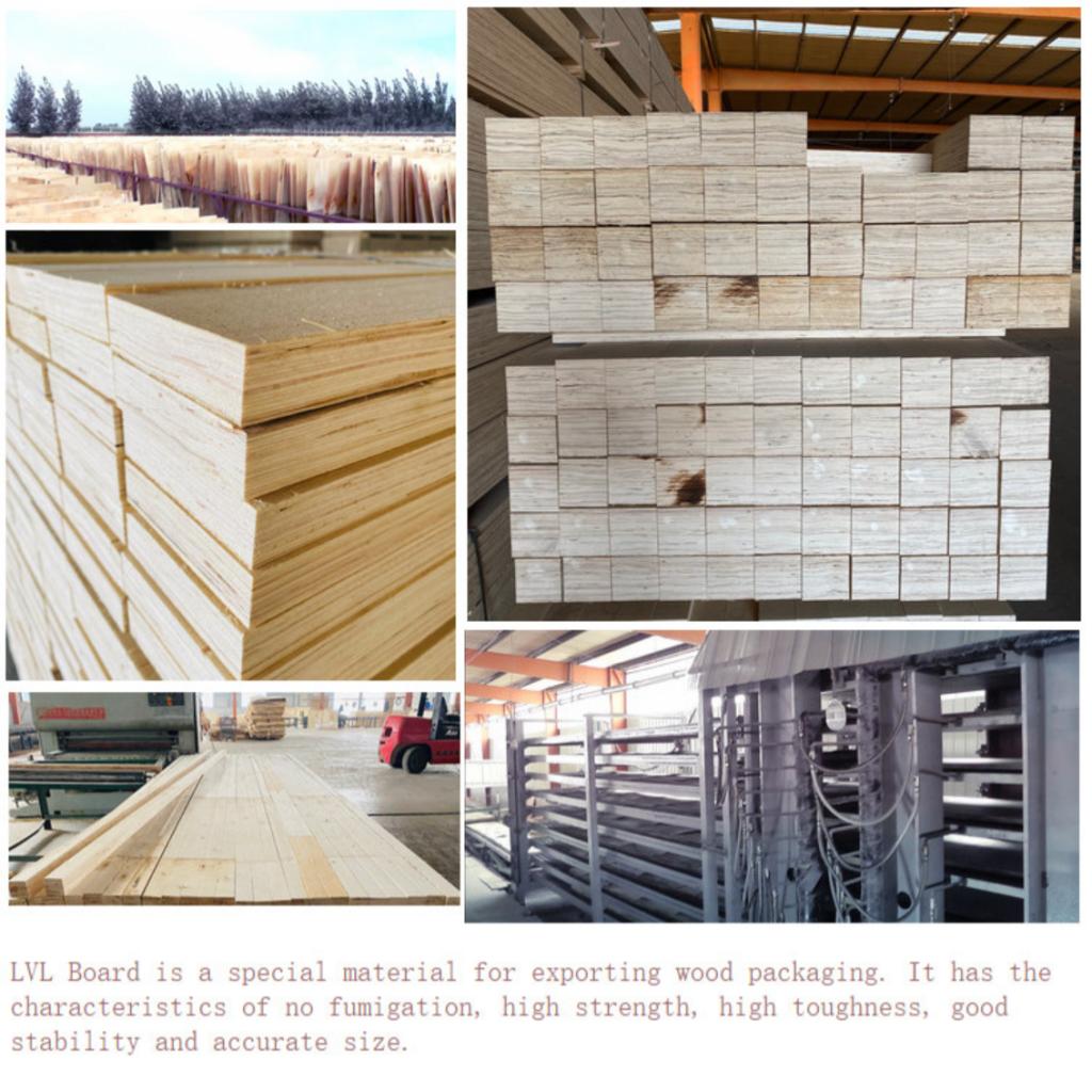packing plywood lvl timber at factory